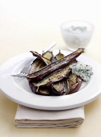 Bowl of roasted eggplant LANG_EVOIMAGES