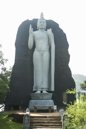 Standing Buddha statue and steps,Aukana,Sri Lanka
