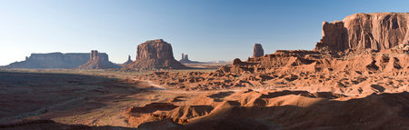 getting out: Landscape of monument Valley Navajo Tribal Park,Utah,USA