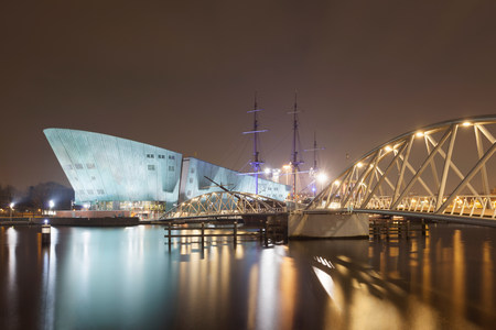 NEMO Science Center located at Oosterdok,Amsterdam,Netherlands