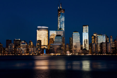 Skyline of Manhattan (view from Jersey City),New York City,USA