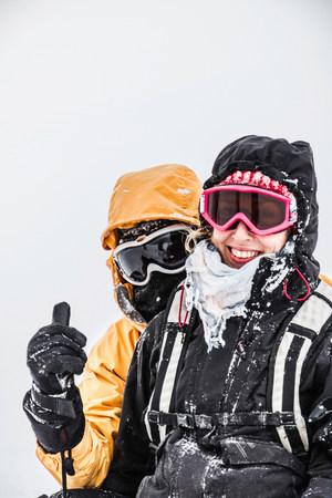 wildkogel austria: Portrait of young couple,Bramberg am Wildkogel,Austria LANG_EVOIMAGES
