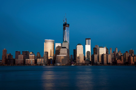 Skyline of Manhattan (view from Jersey City),New York City,USA