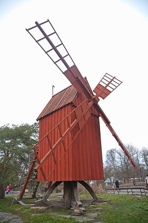Old windmill at Skansen,Stockholm,Sweden