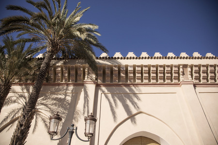 in low spirits: Low angle view of Moulay El Yazid Mosque,Marrakech,Morocco LANG_EVOIMAGES