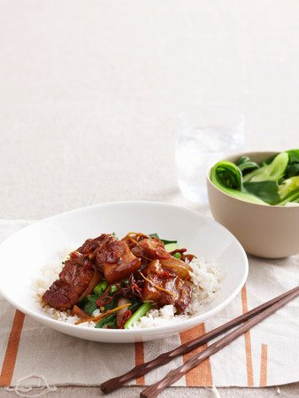 Braised meat with vegetables and rice LANG_EVOIMAGES