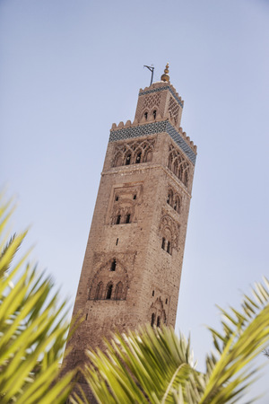 in low spirits: Low angle view of Koutoubia Mosque,off Jamaa el Fna Square,Marrakech,Morocco LANG_EVOIMAGES