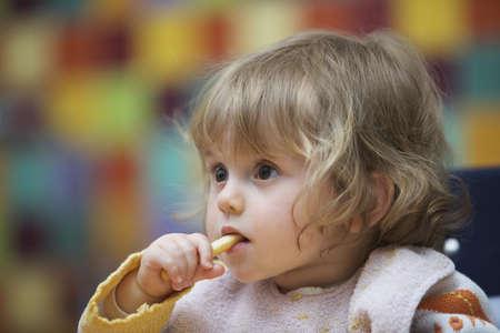 Girl eating