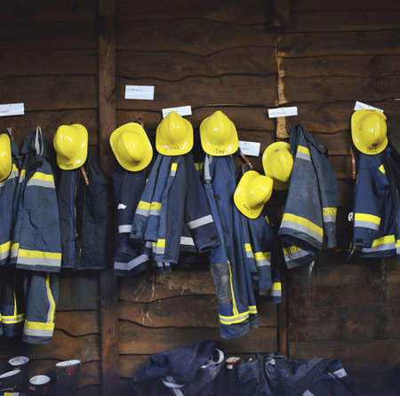 survives: Firefighters clothes hanging LANG_EVOIMAGES