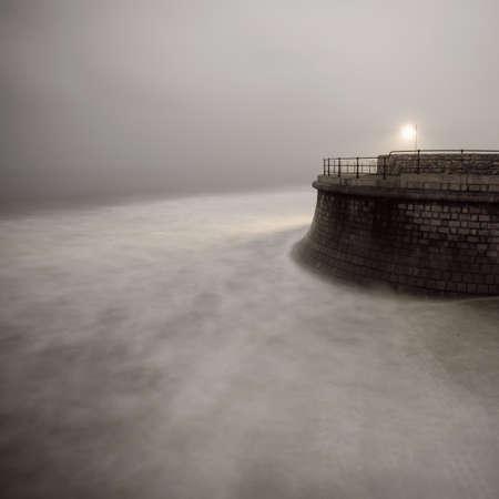 stormy waters: Coastline, Filey, North Yorkshire, UK