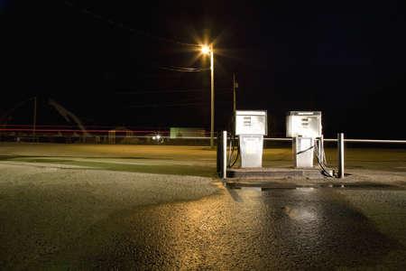 saturating: Fuel pumps at night