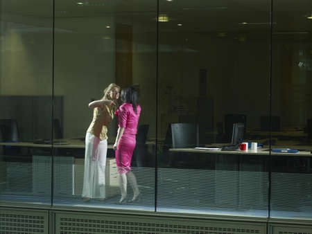 clashes: Two women arguing in an office