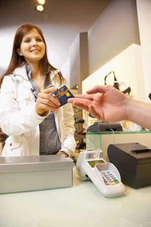 Paying shoes by credit card