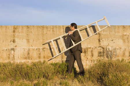 Businessman escapes LANG_EVOIMAGES