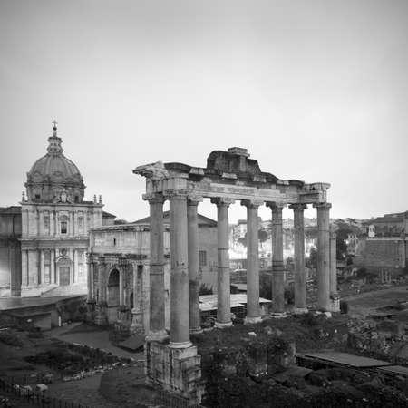 histories: Aerial view of Roman Forum