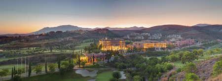 Villa Padierna and golf course at dusk LANG_EVOIMAGES