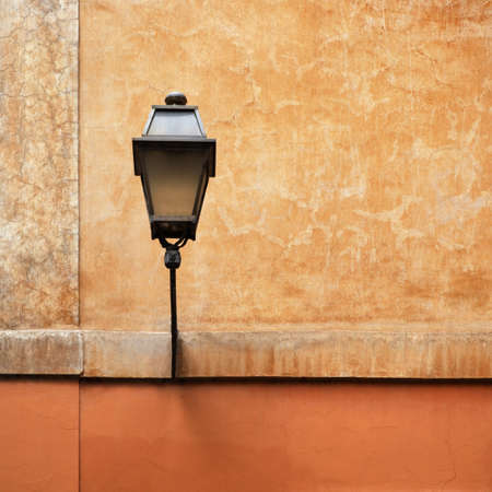 street lamp: Streetlight attached to wall
