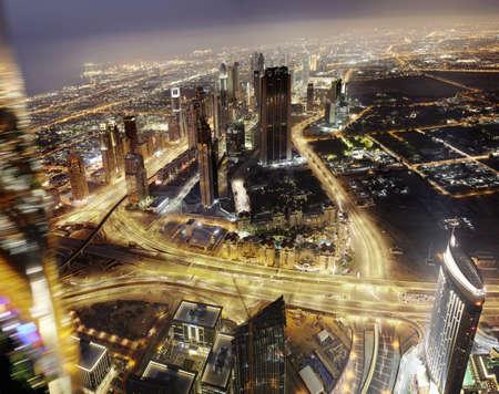 Luft-Zeitraffer-Blick auf Dubai