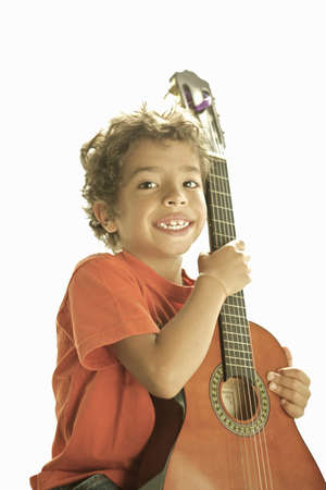 musically: boy with guitar