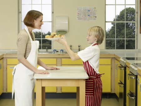 studied: A teacher and a boy