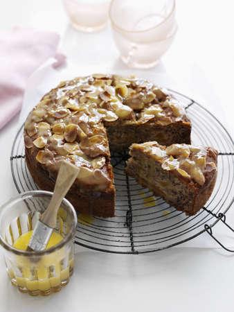 Almond tart with butter