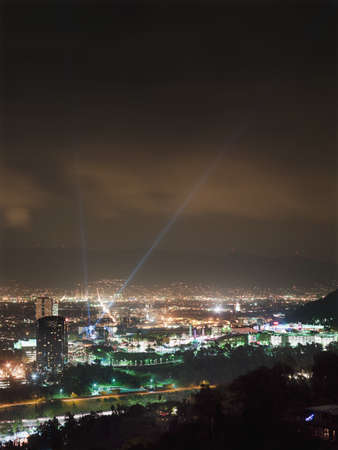 Aerial view of Los Angeles at night LANG_EVOIMAGES