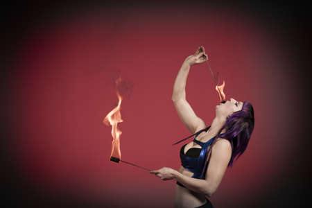 blazed: Fire eater performing LANG_EVOIMAGES