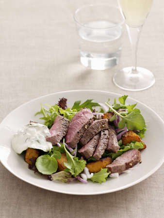 minted: Plate of meat with vegetables