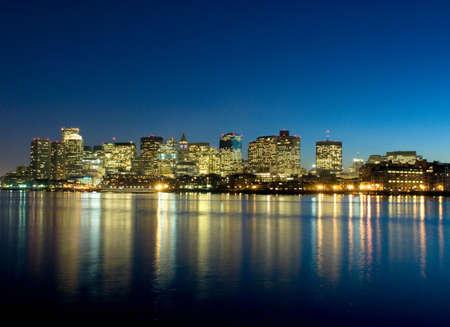reflective: Boston skyline,USA