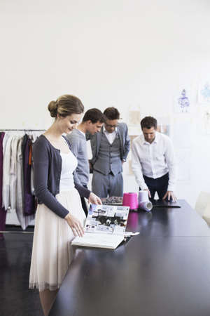 conferring: Business people working in office