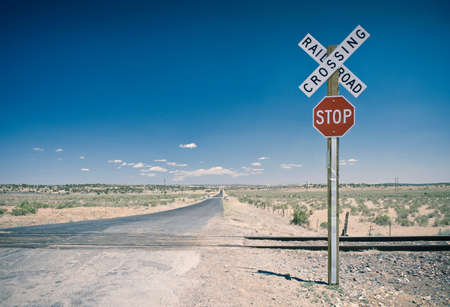 vacant land: Level crossing,New Mexico,USA