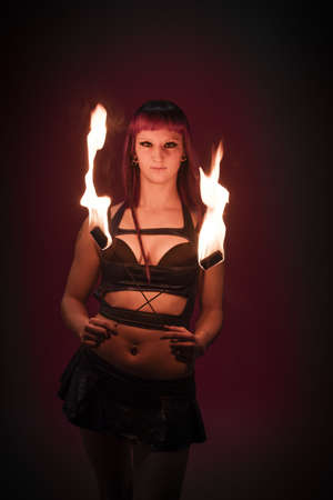 blazed: Fire dancer performing