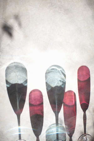 lavishly: Shadow of wine and water glasses