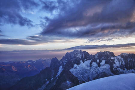 courmayeur: Aerial view of mountain ranges LANG_EVOIMAGES