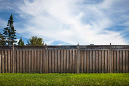 inaccessible: Wooden garden fence