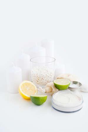 cremas faciales: Crema de cara, limón, lima y velas