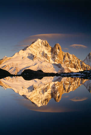 lenticular: Les Drus,two peaks on the side of Aiguille Verte in the Rhone-Alpes region