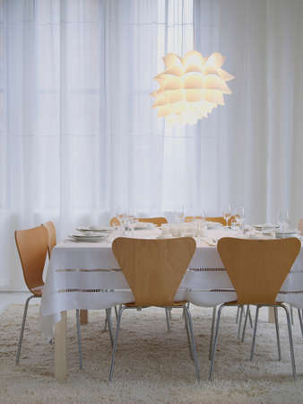 housing lot: Modern table setting for a dinner party LANG_EVOIMAGES