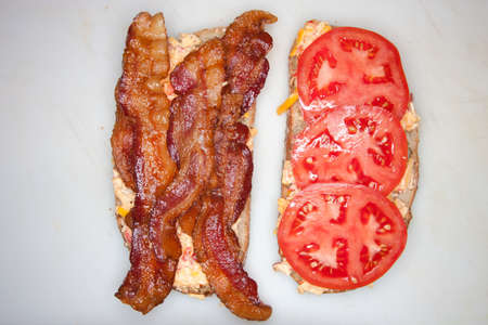 unhealthiness: Bacon and tomato sandwich
