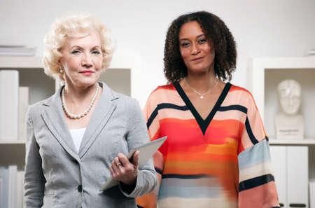 authoritative woman: Female business partners
