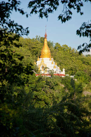 luscious: A pagoda in the hills at Sagaing,Myanmar