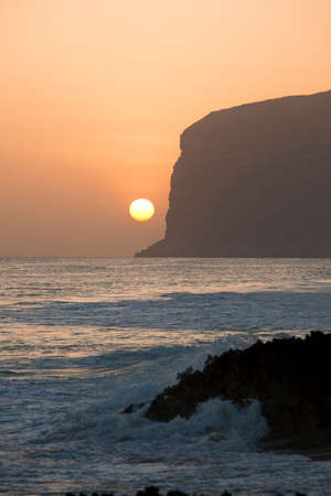 Cliffs at sunset at Qaarah,Socotra,Yemen