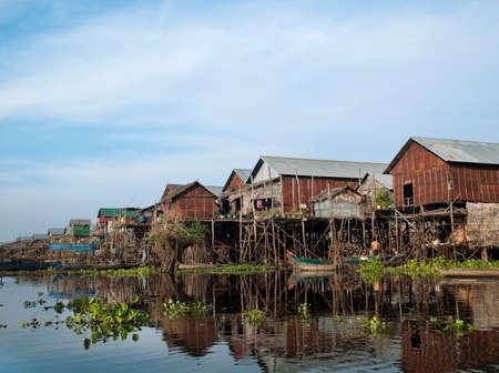 The floating village of Kompong Phluk on the great Tonle Sap lake,Cambodia