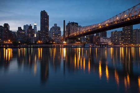 Queensboro Ed Koch Bridge,Roosevelt Island,New York City,USA