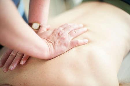 recuperating: Close up of back massage