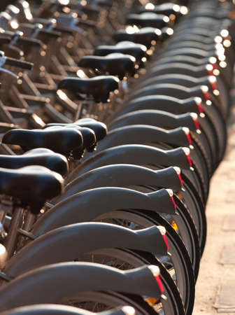 ciclos: A Velib (public bicycle hire) Station in Paris,France LANG_EVOIMAGES