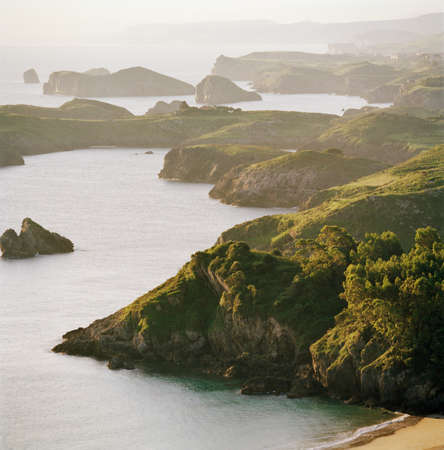 tranquillity: Cliffs and coastline of the Asturias,Spain
