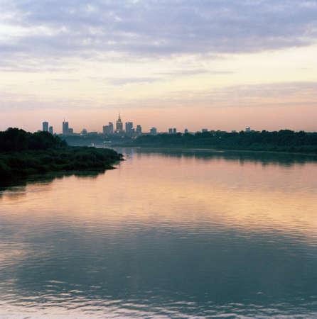 mornings: The Vistula River and Warsaw at dusk,Poland LANG_EVOIMAGES