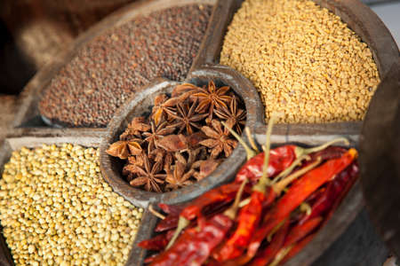 Spices for sale in Cochin,Kerala,India