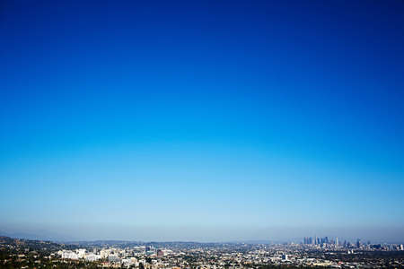 Cityscape and clear blue sky,Los Angeles,California,USA